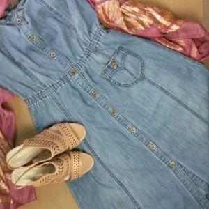 Levi's Dress Halter Style Sz SM Faded Denim